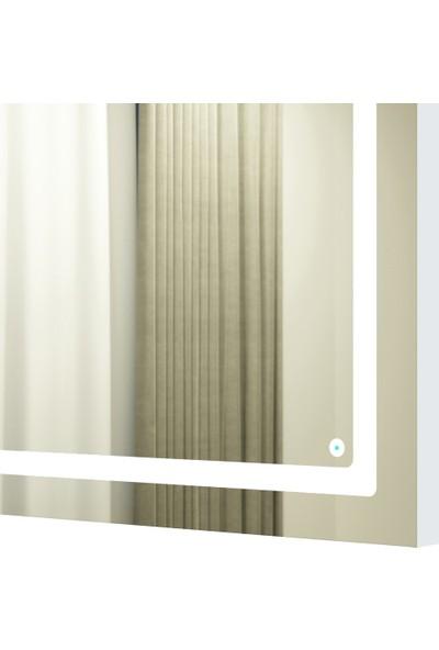 Camex Store Dikdörtgen LED Işıklı Dekoratif Duvar Aynası