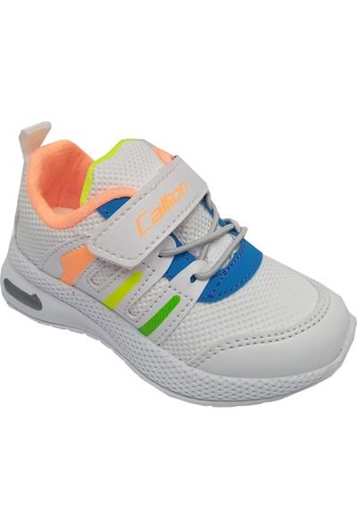 Callion 02 Işıklı Deri Cırtlı Çocuk Spor Ayakkabı