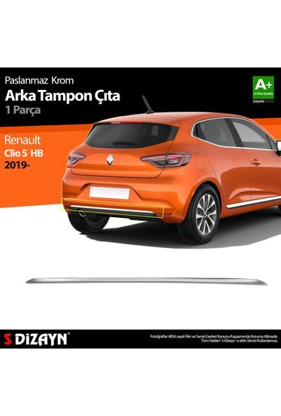 S-Dizayn Renault Clio 5 Hb Krom Arka Tampon Çıtası 2019 ve Üzeri A+Kalite