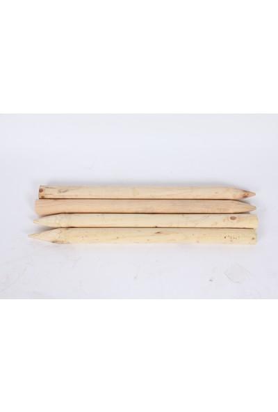 Sağlamlar 10'lu Ahşap (Çam) Bağ Kazığı /Bahçe Herek / Kazık / Çit Direği 132 cm Uzunluk 4 cm Çap
