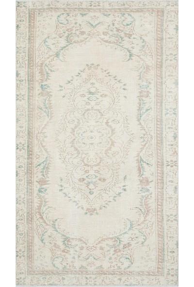 Grand Hedef Halı Bej Natural Desen Vintage El Dokuma Halı 140 x 245 cm