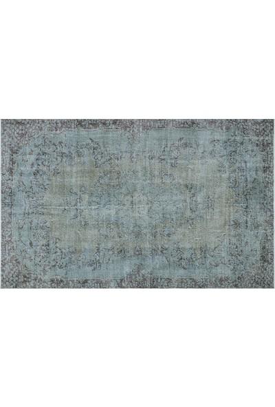 Grand Hedef Halı Açık Mavi Renk Vintage El Dokuma Halı 177 x 284 cm