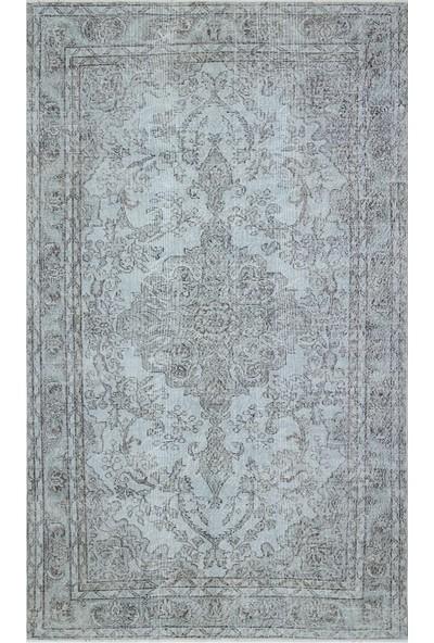 Grand Hedef Halı Açık Mavi Renk Vintage El Dokuma Halı 168 x 282 cm