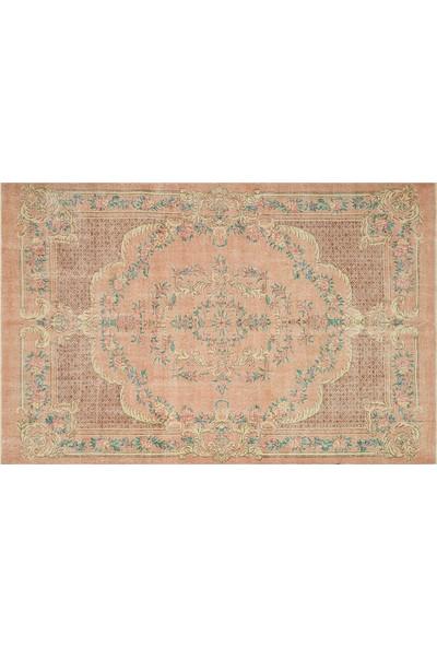 Grand Hedef Halı Mercan Natural Desen Vintage El Dokuma Halı 196 x 300 cm