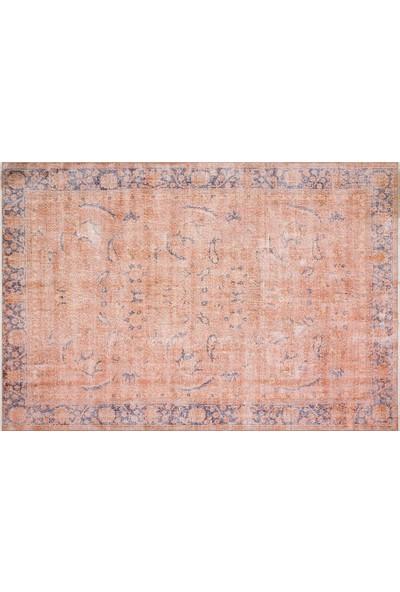 Grand Hedef Halı Turuncu Renk Vintage El Dokuma Halı 203 x 300 cm