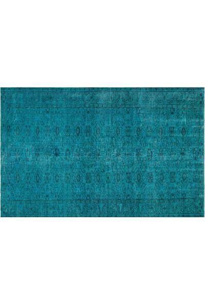 Grand Hedef Halı Turkuaz Renk Vintage El Dokuma Halısı 177 x 278 cm
