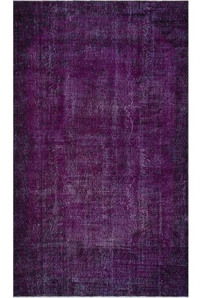 Grand Hedef Halı Mor Renk Vintage El Dokuma Halısı 175 x 295 cm
