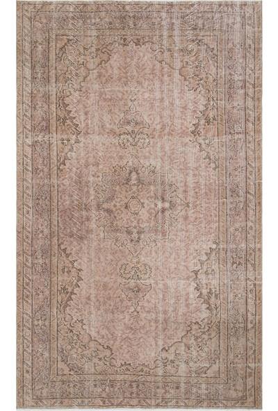Grand Hedef Halı Pudra Pembe Renk Vintage El Dokuma Halısı 162 x 267 cm