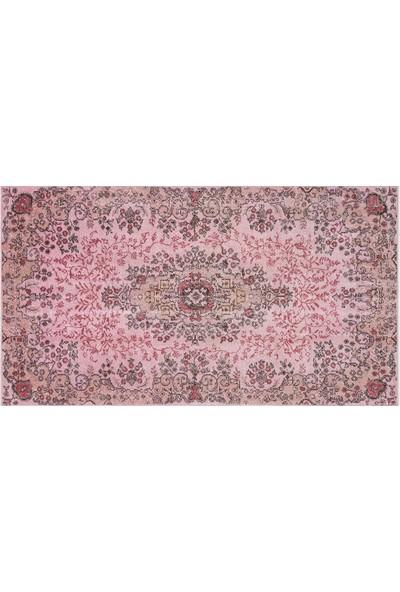 Grand Hedef Halı Pembe Renk Vintage El Dokuma Halısı 152 x 271 cm