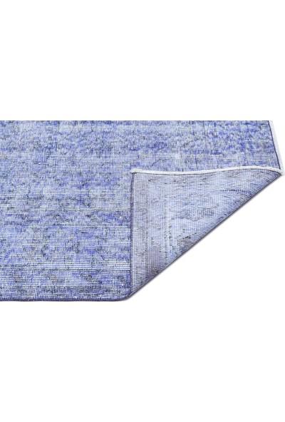Grand Hedef Halı Açık Mavi Renk Vintage El Dokuma Halısı 153 x 254 cm
