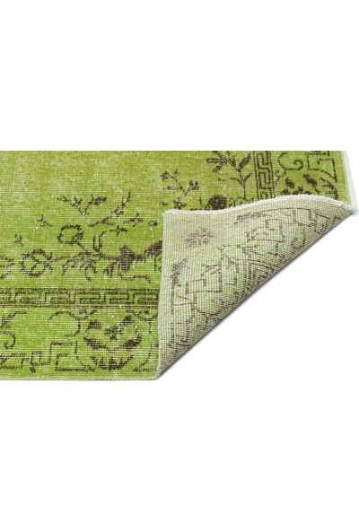 Grand Hedef Halı Yeşil Renk Vintage El Dokuma Halısı 150 x 249 cm