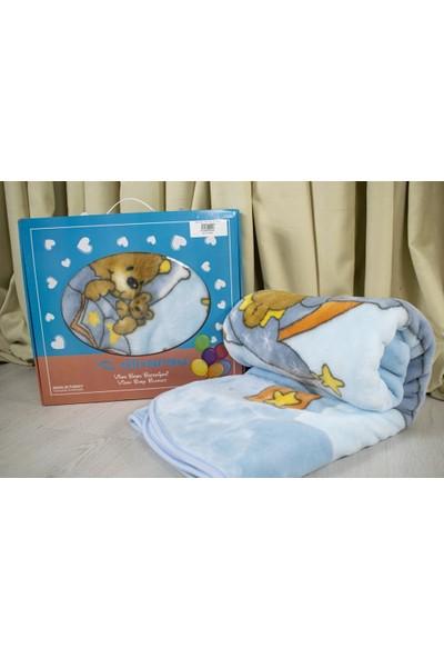 Dinarsu Sweet Wınnıe Vizon Bebek Battaniyesi 100 x 120 cm