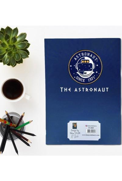Kiwoodesign A4 Desenli Defter Astronot