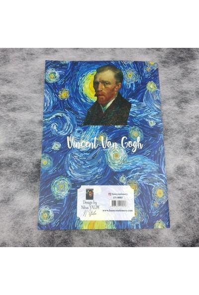 Kiwoodesign A4 Desenli Defter Van Gogh