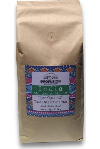 Profusion Coffee HİNDİSTAN (INDIA) MONSOONED MALABAR Kahve 1 KG French Press