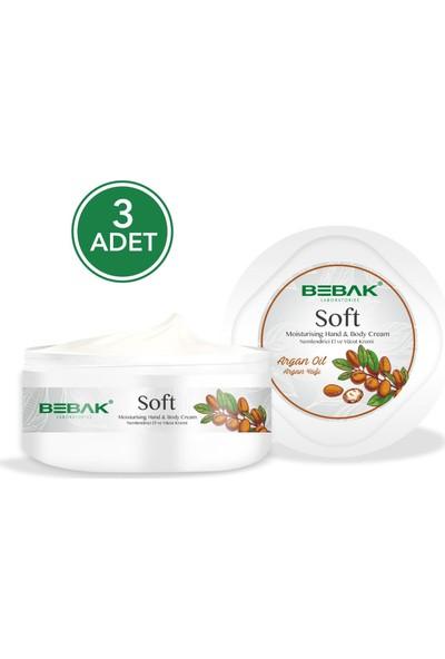 Bebak Argan Yağı Soft Nemlendirici Bakım Kremi 300 ml 3 Adet