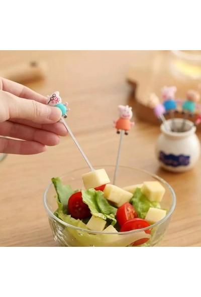 Peppa Pig Meyve Çatalı 6'lı Çubuk Set