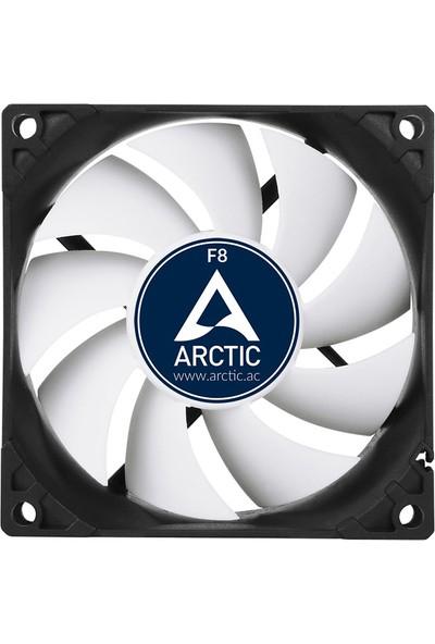 Arctic F8 PWM PST 80mm Beyaz Kanatlı Kasa Fanı