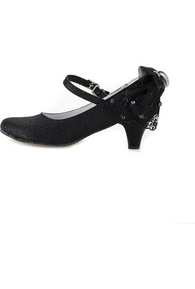 Minipicco Kız Çocuk Siyah Abiye Ayakkabı