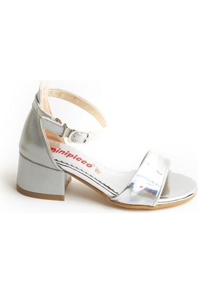 Minipicco Kız Çocuk Gümüş Özel Tasarım Abiye Ayakkabı