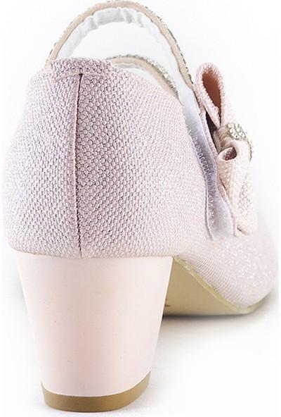 Minipicco Kız Çocuk Pudra Abiye Ayakkabı
