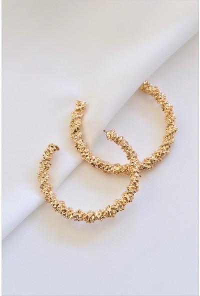 La'dess Accessories & Collections Ld Boşluklu Halka Altın Renkli Küpe