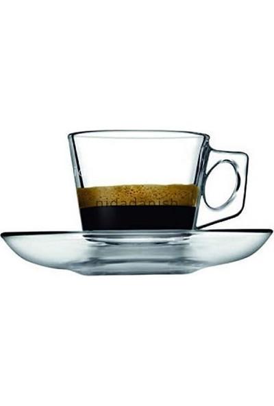 Paşabahçe Vela Espresso Fincanı Tabaklı 80 cc 6 Adet 97301