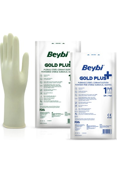 Beybi Goldplus Steril Cerrahi Eldiven 6.5 10'lu Paket