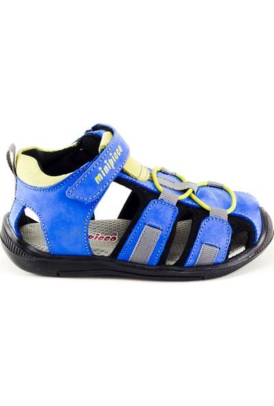 Minipicco Unisex Çocuk Sax Deri Sandalet