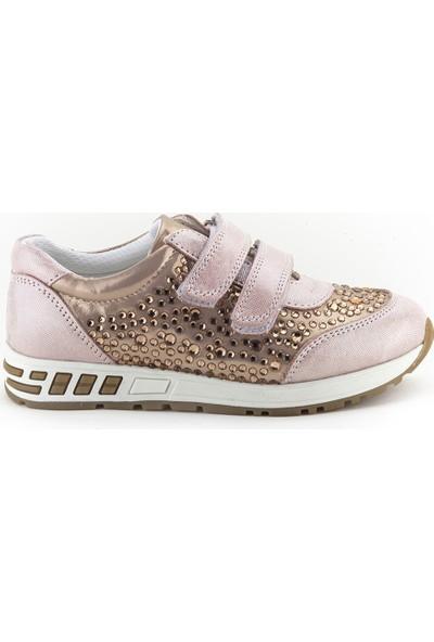 Minipicco Kız Çocuk Pudra Deri Ayakkabı