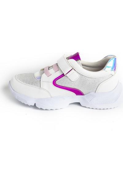 Minipicco Kız Çocuk Beyaz Spor Ayakkabı