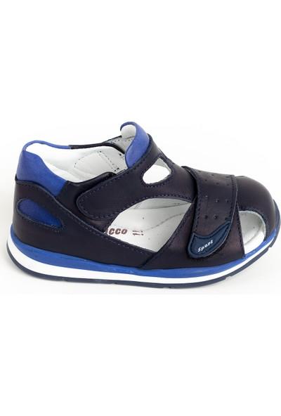 Minipicco Erkek Çocuk Lacivert Deri İlk Adım Ayakkabı
