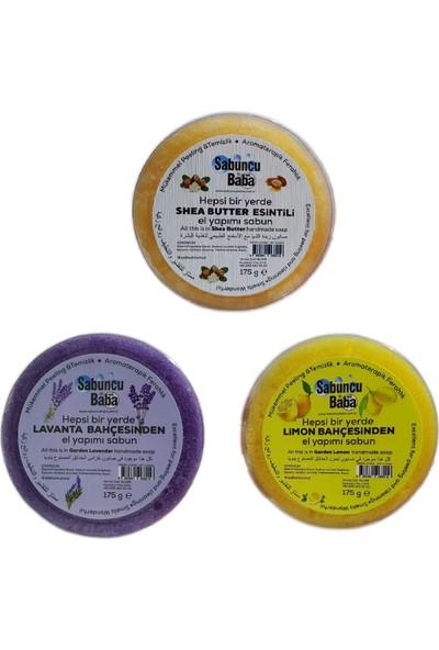 Sabuncu Baba Lavanta Bahçesinden Limon Bahçesinden ve Shea Butter Esintili Süngerli Sabunlar