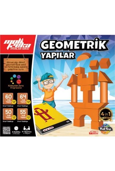 Moli Toys Geometrik Yapılar Moli Zeka Oyunu Strateji Oyunu 4 Oyun 1 Arada