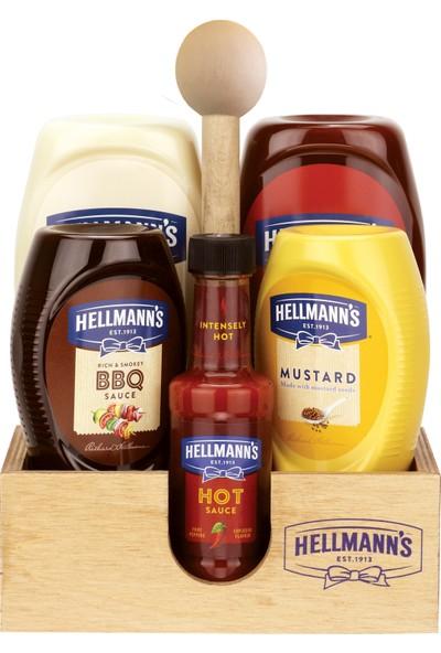 Hellmann's 5'li Sos Paketi Ahşap Tepsi Hediyeli