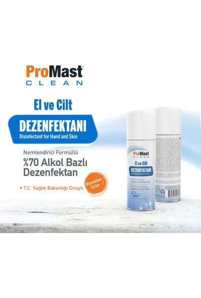 Promast Clean %70 Alkollu El ve Cilt Dezenfektanı Nemlendiricili 100ml Sprey