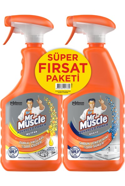 Mr Muscle Mutfak 750 ml + Mr Muscle Banyo 750 ml