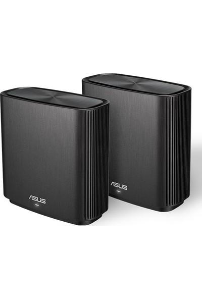Asus ZenWifi CT8 Gaming-Ai Mesh-AiProtectionPro-Torrent-Bulut-DLNA-Kablosuz Ağ Dağıtım Mesh Sistemi(Siyah İkili Paket)