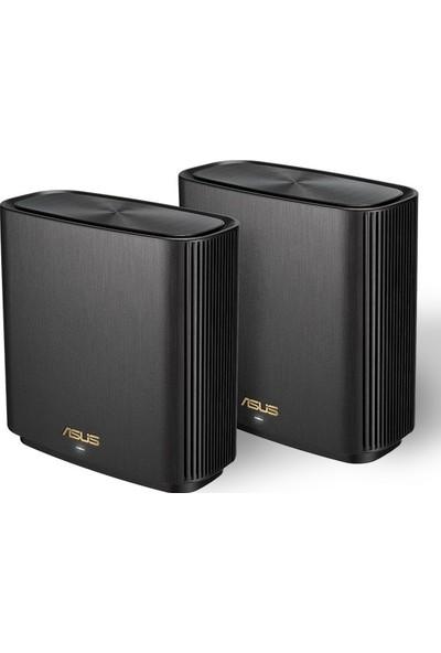 Asus ZenWifi XT8 Gaming-Ai Mesh-AiProtectionPro-Torrent-Bulut-DLNA-Kablosuz Ağ Dağıtım Mesh Sistemi(Siyah İkili Paket)