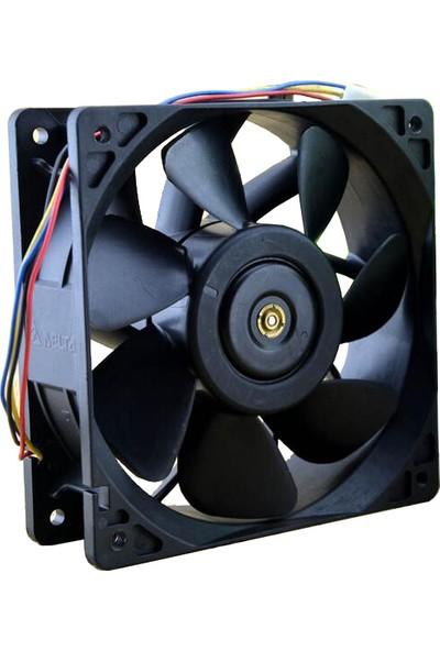 Delta 6000 Rpm Asic Madenci Soğutma Fanı, 12 cm Pwm Fan Antminer S9/t9