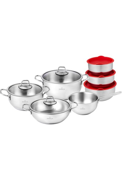 Karaca Pişir Sakla 13 Parça Çelik Set
