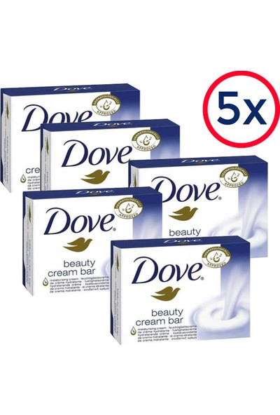 Dove Beauty Cream Bar Sabun 100G (5'li Fırsat Set)
