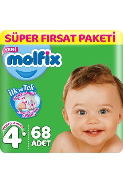 Molfix Bebek Bezi 4+ Beden Süper Fırsat Paketi 9-16 Kg 68 9-16 Kg