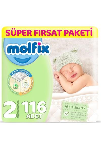 Molfix Bebek Bezi 2 Beden Yenidoğan Fırsat Paketi 3-6 Kg 116 3-6 Kg
