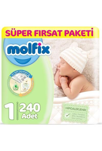 Molfix Bebek Bezi 1 Beden Yenidoğan Fırsat Paketi 2-5 Kg 240 2-5 Kg