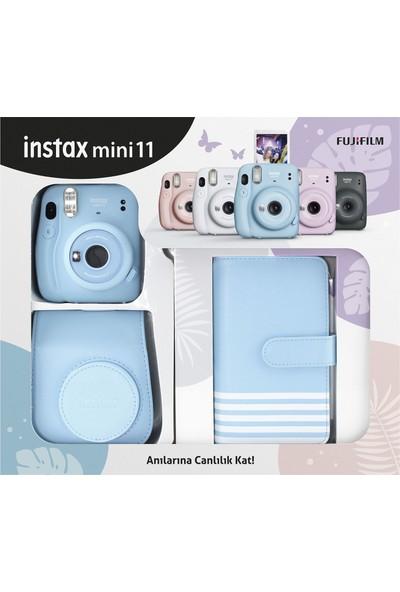 Fujifilm Instax Mini 11 Laporta Albümlü Mavi Kit