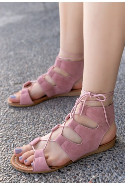 Erbilden Kaiya Pudra Süet Sandalet