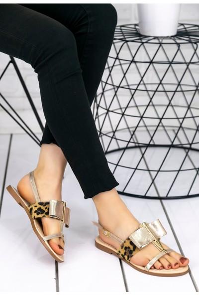 Erbilden Melba Gold Cilt Sandalet