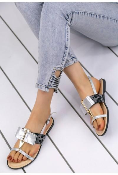 Erbilden Melba Gümüş Cilt Sandalet