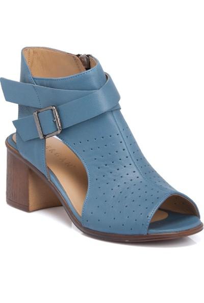 Tergan K.Mavi Deri Kadın Ayakkabı 64356J51